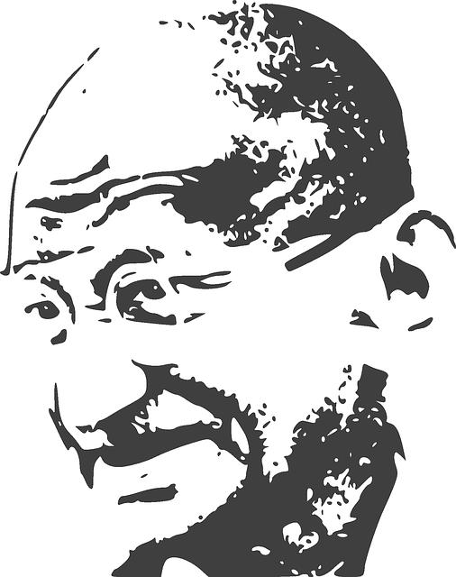 Portrait image of mahatma Gandhi