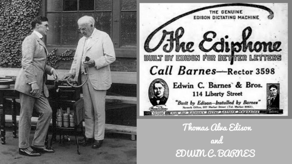 Image of Edwin c Barnes and Thomas Alva Edison