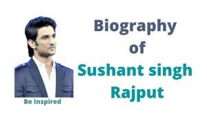 Biography of sushant singh rajput image